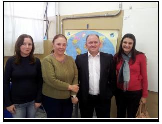 Palestra na Escola Estadual Professor Marciano de Toledo Piza em Rio Claro/SP