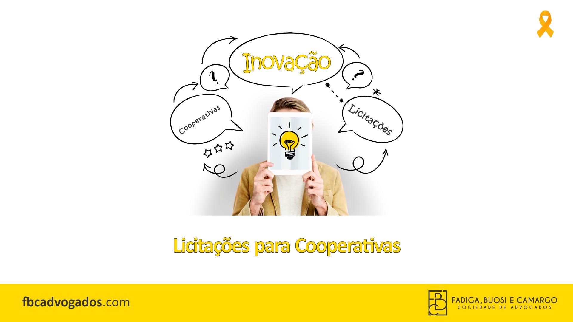 Inovação: Licitações e as Cooperativas